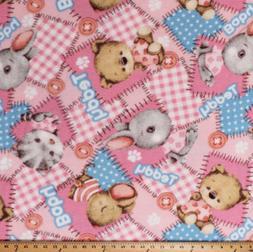 Fleece Teddy Bears Stuffed Animals Baby Toys Pink Fabric Pri