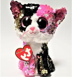 Ty Flippables Malibu The Sequin Cat 6''Stuffed Plush Animals