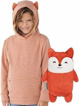 CUBCOATS FLYNN THE FOX 2-IN-1 TRANSFORMING PULLOVER HOODIE &