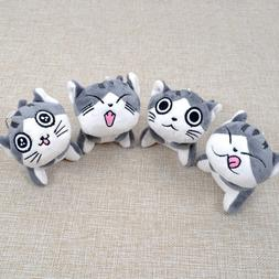 <font><b>Super</b></font> Cute Sitting Chi Cat Keychain Plus