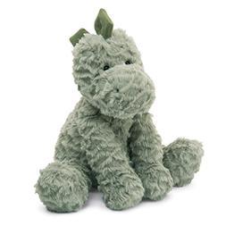 Jellycat Fuddlewuddle Dinosaur Stuffed Animal, Medium, 9 inc