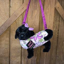 "Furry Couture Piper Black Lab Plush Purse 11"" by Douglas Cud"