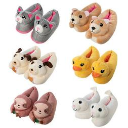 Chatties Fuzzy Cute Stuffed Animal Slippers For Kids Girls T