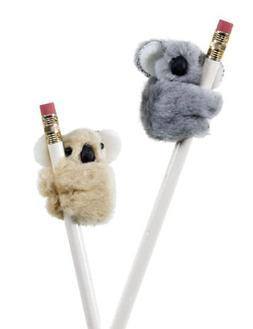 Fuzzy Koala Pencil Hugger, 48 count