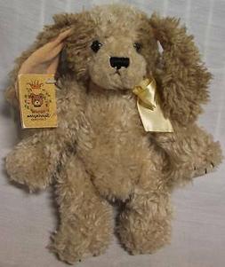 "Bearington Collection FUZZY TAN LADY PUPPY DOG 9"" Plush STUF"