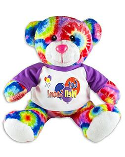 Get Well Soon Teddy Bear Tie Dye Plush Message T-Shirt 9 Inc