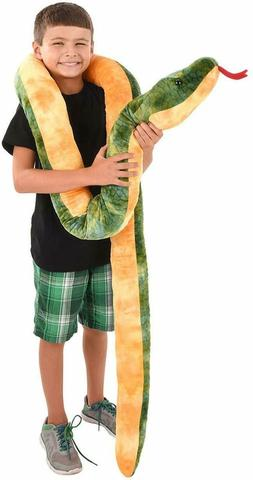 "Giant Anaconda Snake Plush Toy 100"" Long"