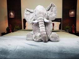 Giant Elephant Stuffed Animal and Adult Size Throw Blanket P