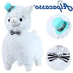 "Alpacasso 17"" White Plush Alpaca, Cute Stuffed Animals Toy."