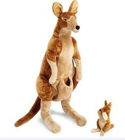 Melissa & Doug Giant Kangaroo and Baby Joey in Pouch Lifelik