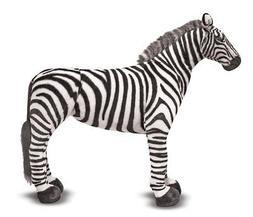 Melissa & Doug Giant Striped Zebra - Lifelike Stuffed Animal