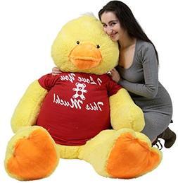 Big Plush Giant Stuffed Duck 48 Inches Soft 4 Feet Tall Anim