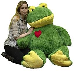 Giant Valentines Day Stuffed Frog 48 Inch Soft 4 Foot Plush