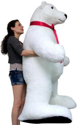 Giant Stuffed Polar Bear 5 Feet Tall Huge Stuffed Animal Mad