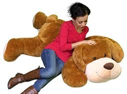 Giant Stuffed Puppy Dog 5 Feet Long Squishy Soft Extremely L