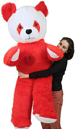 6 Foot Giant Stuffed Red Panda With Heart on Chest to Expres