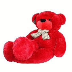 "Joyfay® Giant Teddy Bear  Red 47"" 120cm Stuffed Toy Christm"