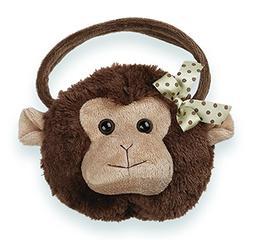 Bearington Giggles Monkey Carrysome, Girls Stuffed Animal Pu