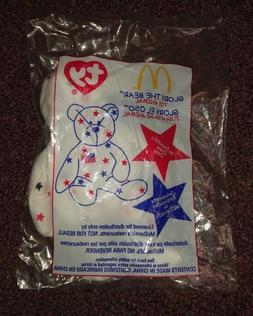 Glory the Bear TY beanie baby McDonalds Limited Edition Crew
