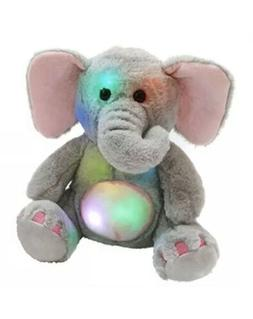 WEWILL Glow Elephant Stuffed Animals Cozy Soft Plush Toys, N