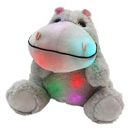 WEWILL Glow Hippo LED Stuffed Animal Plush Soft Toys, Gift f