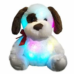 WEWILL Glow Puppy Stuffed Animal Dog Plush Toy Nice Gift for
