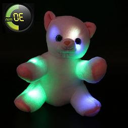 WEWILL Glow Cat Stuffed Animals LED Kitty Light Up Soft Toys