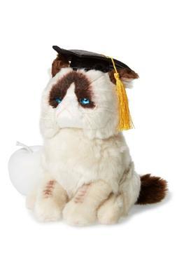 "GUND Grad Grumpy Cat Stuffed Animal 9"" Tallplush Graduation"