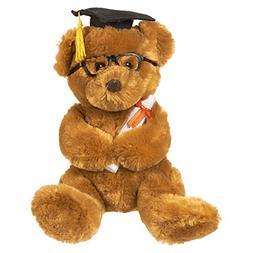 Blue Panda Graduation Plush Bear - Stuffed Animal Teddy Bear