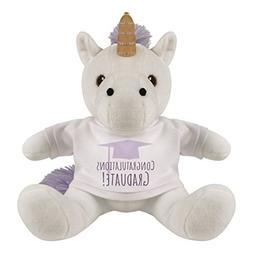Customized Girl Graduation Unicorn: 8 Inch Unicorn Stuffed A