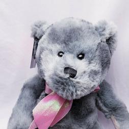 "Gray Bear Stuffed Animal 11"" Plush NEW Super Soft Easter"