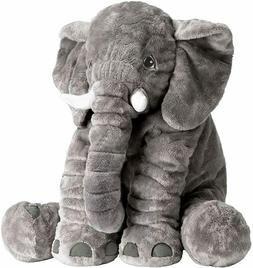 SUPER SOFT STUFFED ELEPHANT PILLOW *Great for Baby Shower*