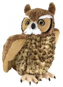 Wild Republic Great Horned Owl Plush, Stuffed Animal, Plush