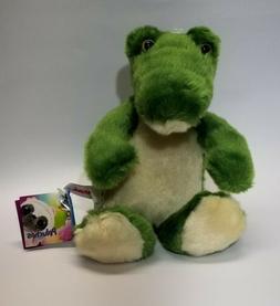 "Aurora Green alligator crocodile plush 8"" long Sitting Stuff"