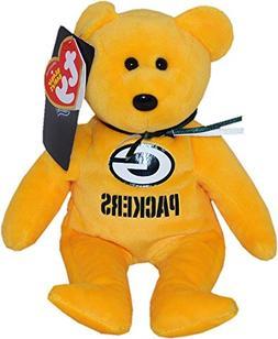 "Green Bay Packers Beanie Baby ""8 Football Bear 11329"