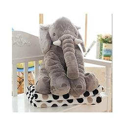 Grey Elephant Plush Pillow Blanket - 2 In 1 Car Travel Naps
