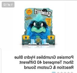 Pomsies Grumblies Hydro Plush Interactive Toys Blue One Size
