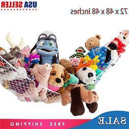 Hammock Toy Net Organizer Stuffed Small Animals Kids White H