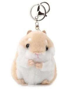 "Hamster Plush Stuffed Animal Toy Keychain Brown 3.5"" US Sell"