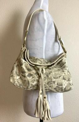 Alfani Handbag Ovaro Leopard Leo Linen Hobo Bag Brand New Sh