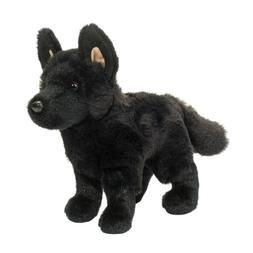 "Harko 8"" Black German Shepherd Plush Stuffed Animal Dog Doug"
