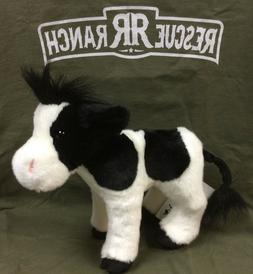 "Douglas Harriet BLACK & WHITE COW 10"" Plush Stuffed Farm Ani"