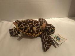 Hawksbill Sea Turtle Small Plush Stuffed Animal Toy Wildlife