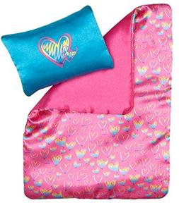 Build a Bear Heart Bedding 2 pc. Comforter Pillow Set Fits S
