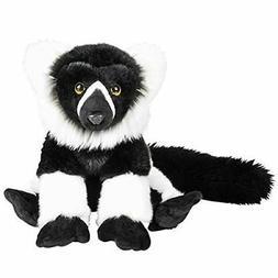 "Heirloom Floppy 12"" White Ruffed Lemur Plush Animal"