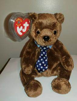 Ty Beanie Baby ~ HERO the Father's Day Bear ~ MINT with MINT