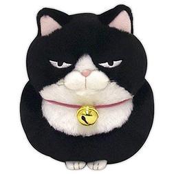 Amuse Higemanjyu Series Plush Cat Doll Black 'Anko' Standard