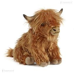 Highland Cow Moo Sound Plush Stuffed Animal Cute Cuddly Plus