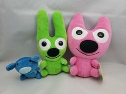 Hoops and Yoyo Piddles Trio Soft Plush Stuffed Animal Toys H