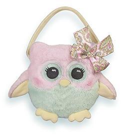 Bearington Hooter Owl Carrysome Girls Stuffed Animal Purse,